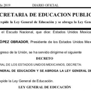 Leyes Secundarias de Educación 2019